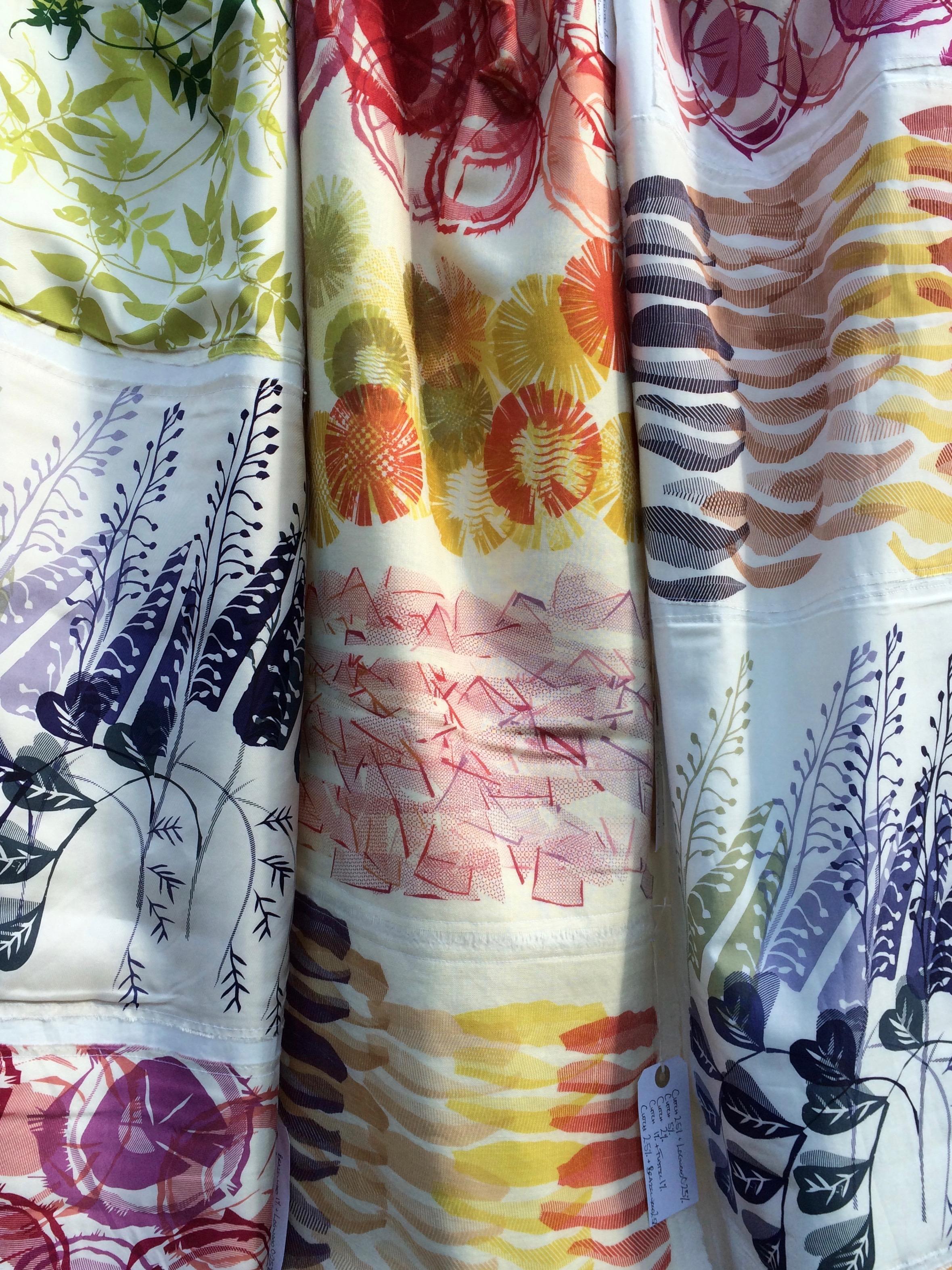 Natural dye scrolls