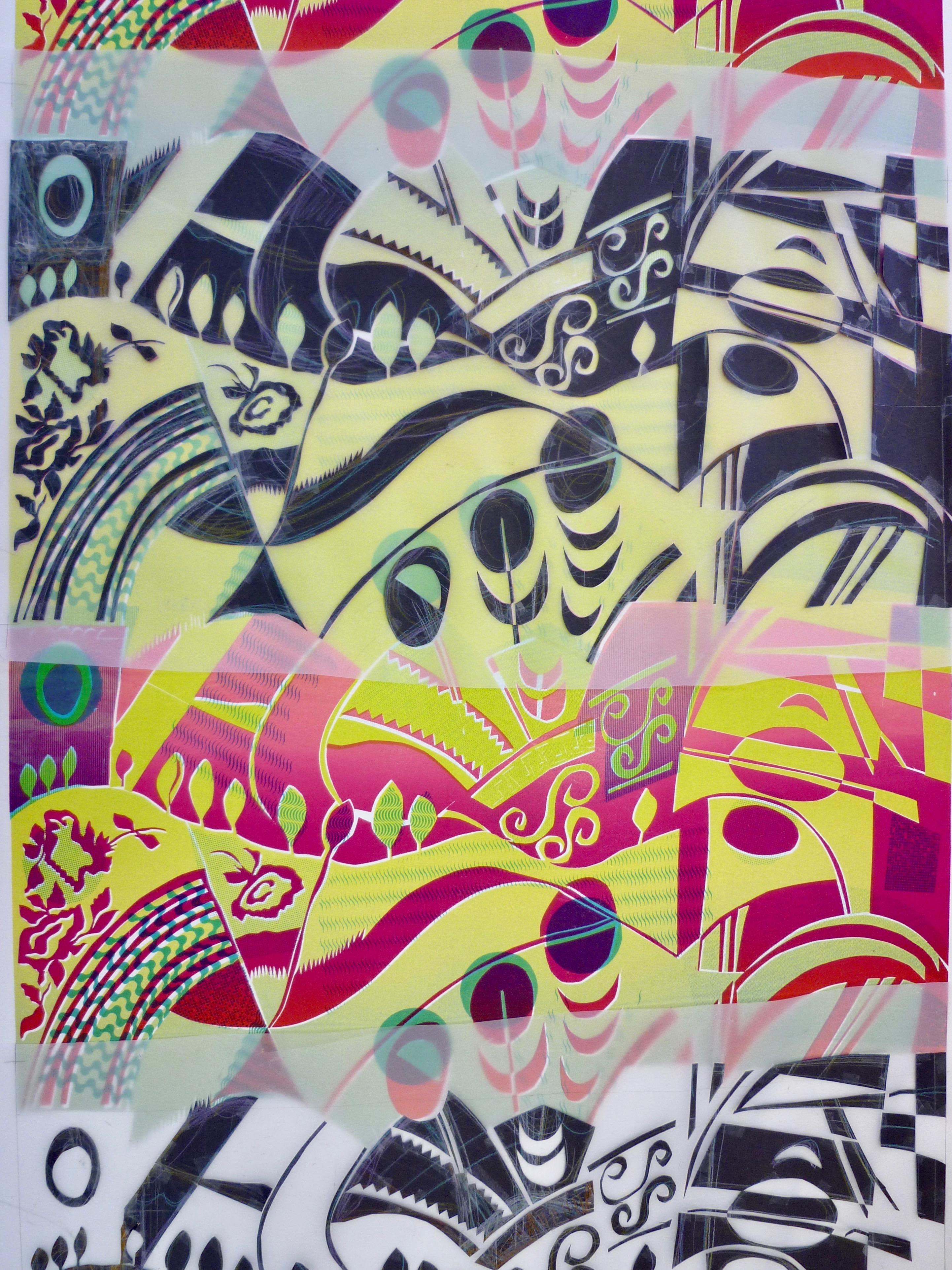 Repeat textile print Lara Mantell